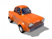 Оранжевый винтажный автомобиль